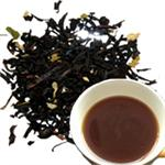 Black Tea Leaves with Black Tea in Tea Cup