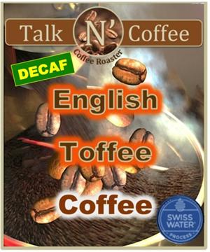 Decaf English Toffee Flavored Coffee