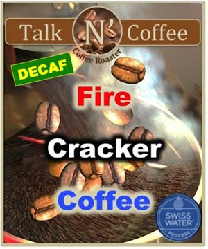 Decaf Fire Cracker Flavored Coffee