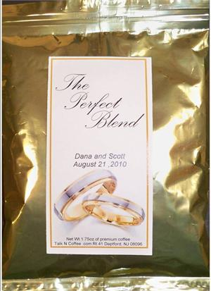 Gold Silver Rings Wedding Coffee Favors