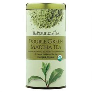 Can of Republic Green Tea with 50 Tea Bags in the Can