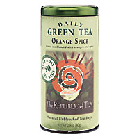 Can of Republic of Tea Green Tea Orange Spice 50 Tea Bags