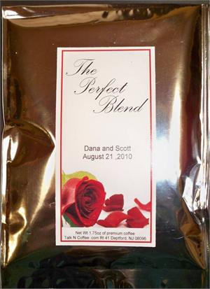Rose Petal Coffee Wedding Favors