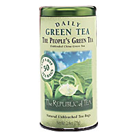 Can of Republic of Tea People's Green Tea 50 Tea Bags