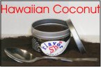 A can of Hawaiian coconut Coffee Flavoring