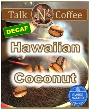 Decaf Hawaiian Coconut Flavored Coffee